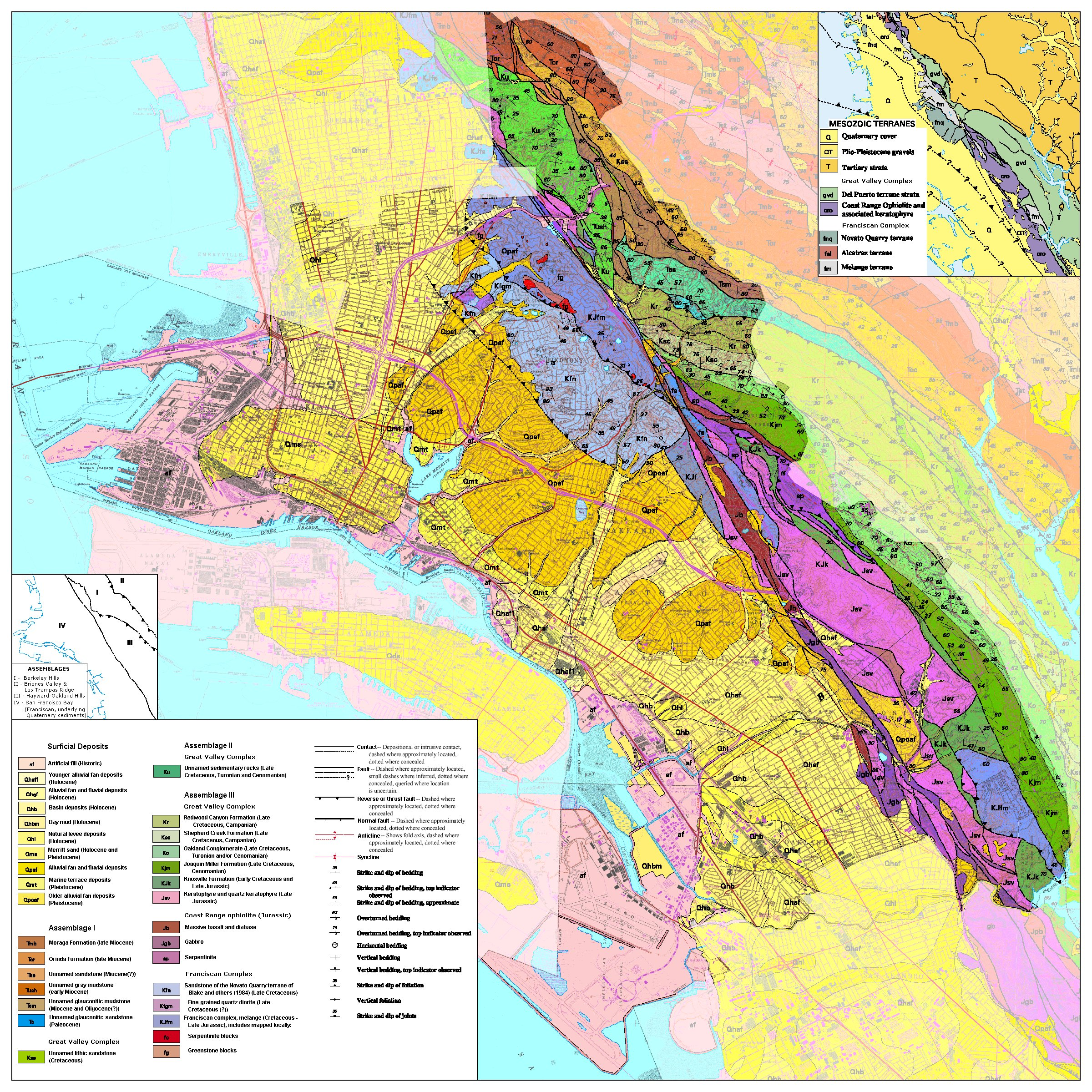 Oakland Geologic Map Oakland Geology