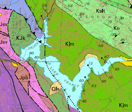 chabot geologic map