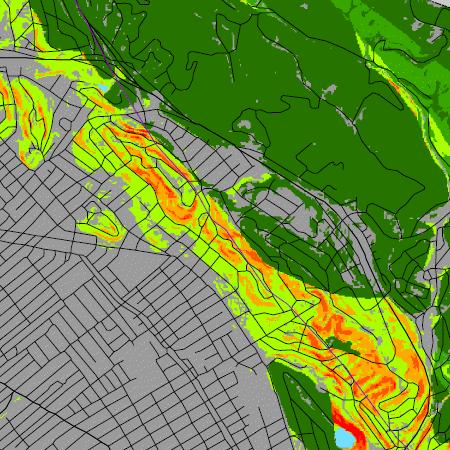 oakland landslide map