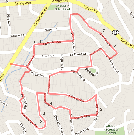 walk #1 route