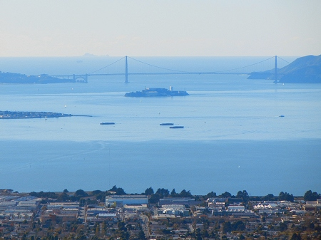 golden gate from radio tower hill