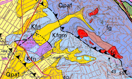 mountain view geologic map