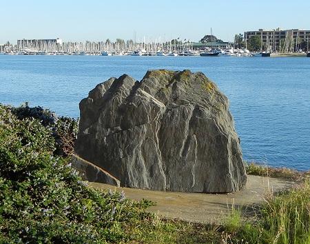 slate boulder