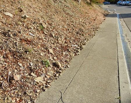 crumbling slope